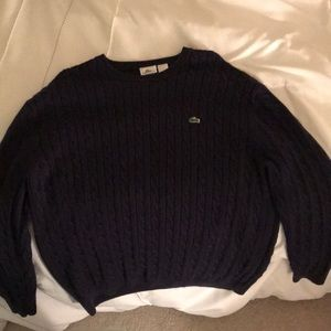 Lacoste Navy Blue Sweater Sz 8 XXL